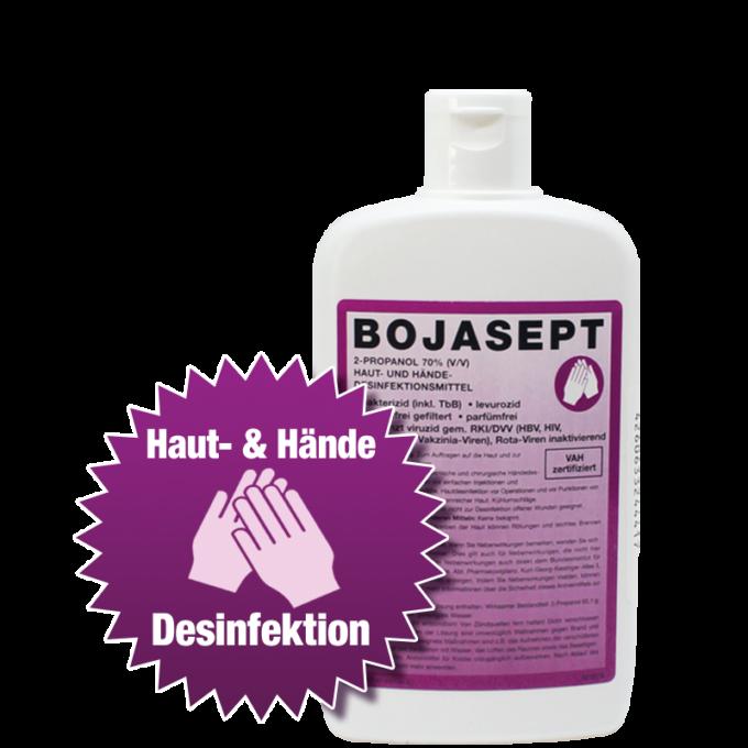 BOJASEPT Hand- und Hautdesinfektion VAH zertifiziert, Kittelflasche